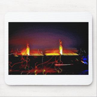 Twin Bridges at night Mousepad