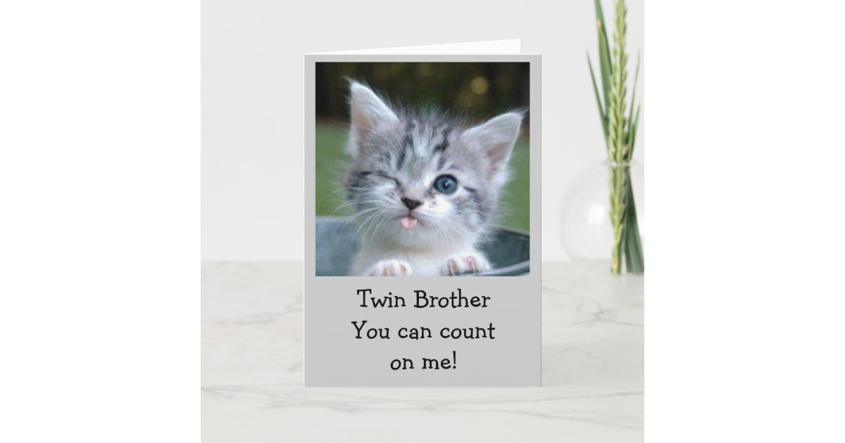 TWIN BROTHER BIRTHDAY HUMOR CARD