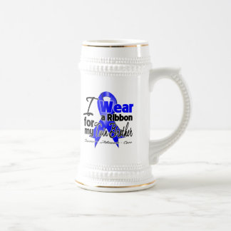 Twin Brother - Colon Cancer Ribbon 18 Oz Beer Stein