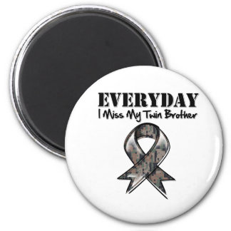 Twin Brother - Everyday I Miss My Hero Military 2 Inch Round Magnet