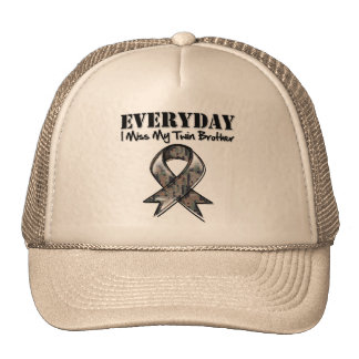 Twin Brother - Everyday I Miss My Hero Military Mesh Hat