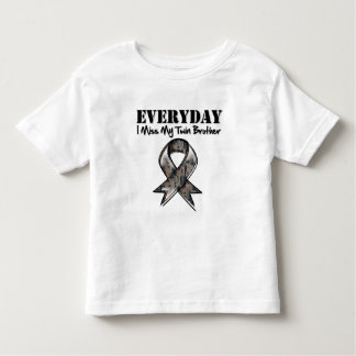 Twin Brother - Everyday I Miss My Hero Military Tshirt