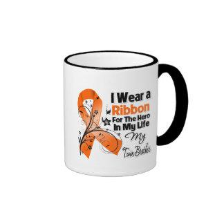 Twin Brother Hero in My Life Leukemia Ringer Coffee Mug