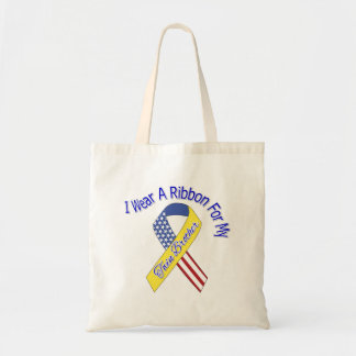 Twin Brother - I Wear A Ribbon Military Patriotic Tote Bag