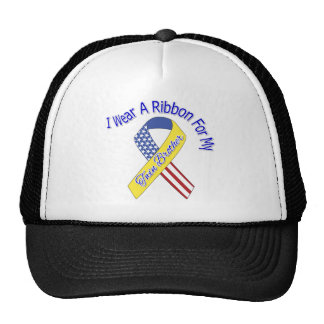 Twin Brother - I Wear A Ribbon Military Patriotic Trucker Hat