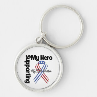 Twin Brother - Military Supporting My Hero Keychain