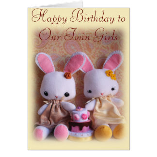 happy birthday twins greeting cards  zazzle, Birthday card