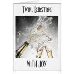 TWIN, BURSTING WITH JOY on YOUR WEDDING DAY Card