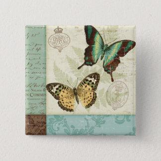 Twin Butterflies Button