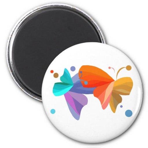 Twin Butterflies Magnet