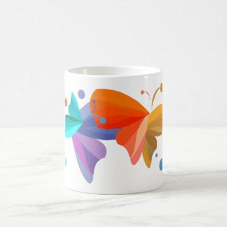 Twin Butterflies Classic White Coffee Mug
