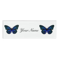 Twin Butterflies Thunder_Cove Name Tag