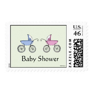 Twin Carriages Postage Stamp