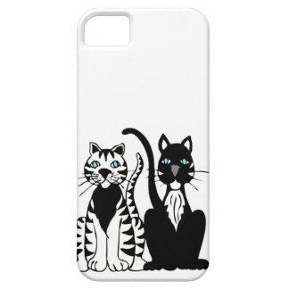 Twin Cartoon Cats iPhone SE/5/5s Case