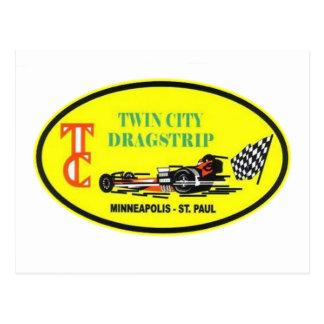 Twin City Drag Strip Class Winner Postcard