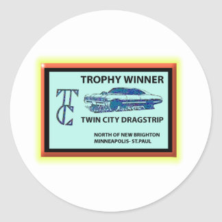 Twin City Dragstrip Classic Round Sticker