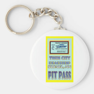 Twin City Dragstrip Pit Pass Keychain