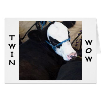 "**TWIN** COW"" SAYS ""HOLY COW"" ANOTHER BIRTHDAY CARD"
