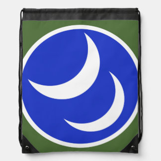 Twin Crescents drawstring backpack