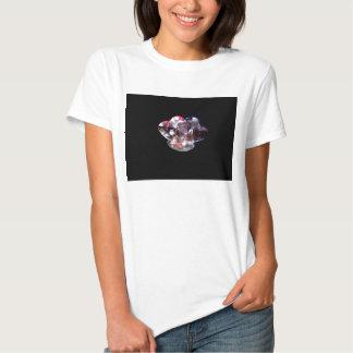 Twin crystal hearts t shirt