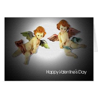 Twin Cupids Valentine's Day Card