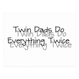 Twin Dads Do Everything Twice Postcard