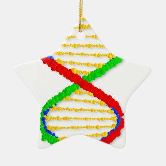 Twin DNA Strands Ceramic Ornament
