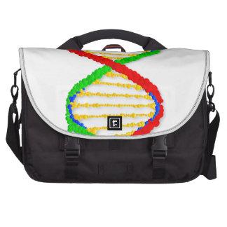 Twin DNA Strands Laptop Commuter Bag