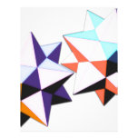 Twin dodecahedrons pop art letterhead template