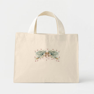 Twin Dove Mini Tote Bag
