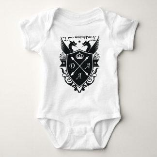 Twin dragon baby bodysuit