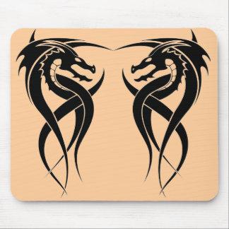 twin dragon mouse pad