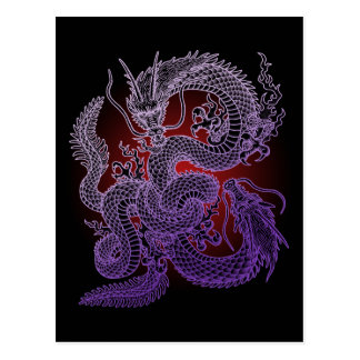Twin-dragon (P) Postcard