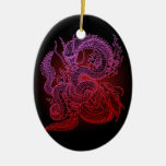 Twin-dragon (R) Christmas Tree Ornaments