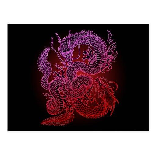 Twin-dragon (R) Post Card
