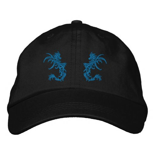 twin  Dragons Embroidered Baseball Hat