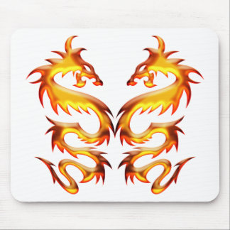 Twin Dragons Mouse Pad