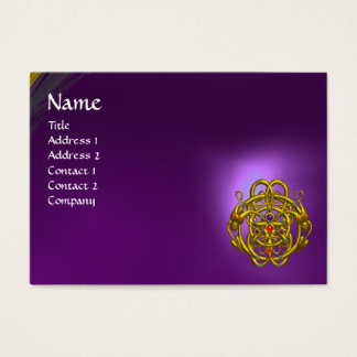 TWIN DRAGONS Purple Amethyst Business Card
