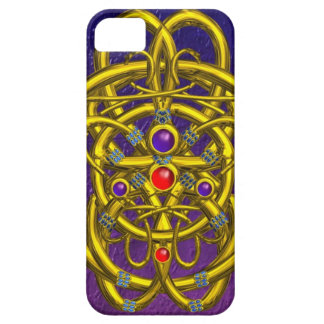 TWIN DRAGONS Purple Blue iPhone 5 Cases