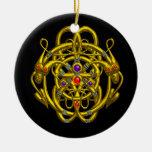TWIN DRAGONS purple Christmas Ornament
