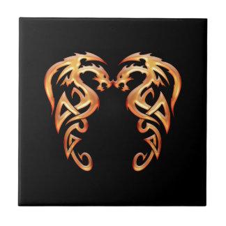 Twin Dragons Tile