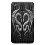 Twin Dragons with Steel Mesh Effect iPod Touch Case