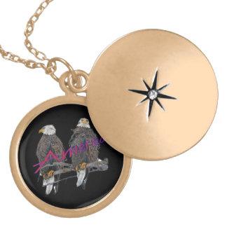 Twin Eagles America Necklace