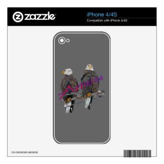 Twin Eagles America Zazzle Skin iPhone 4S Skin