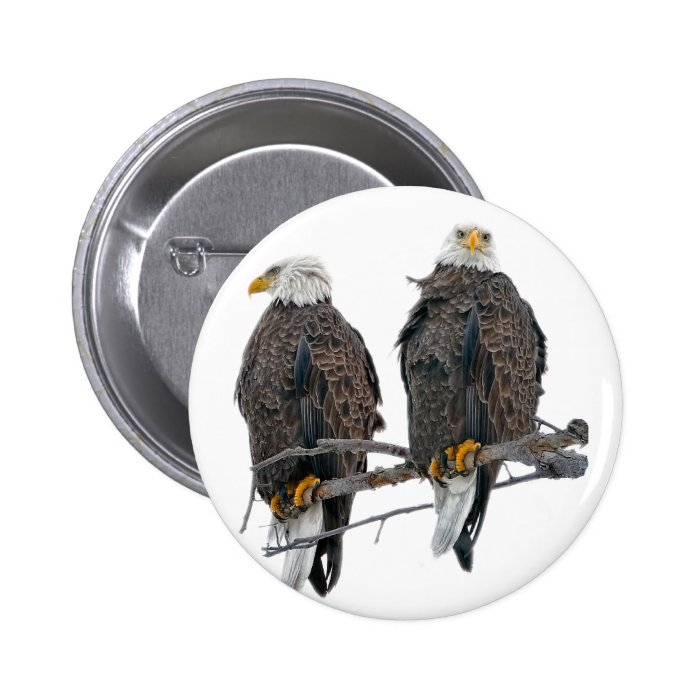 Twin eagles button