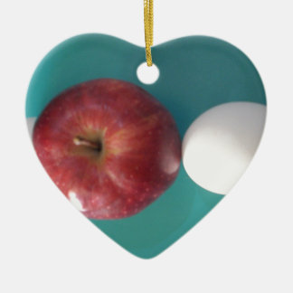 Twin Egg red apple for a pie.JPG Ceramic Ornament