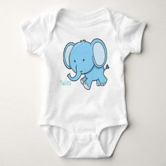 Twin Elephant baby onsie Baby Bodysuit