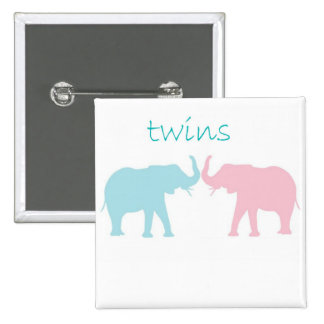Twin Elephant Pink And Blue Buttons