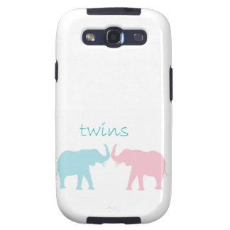 Twin Elephant Pink And Blue Samsung Galaxy S3 Covers