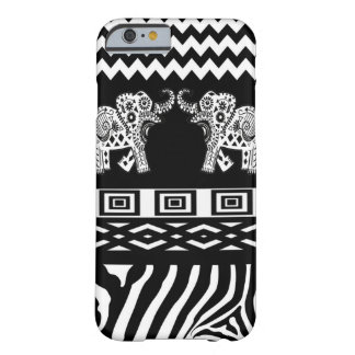 Twin Elephants Black n White Barely There iPhone 6 Case
